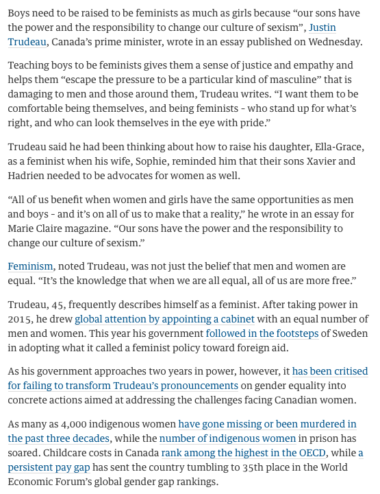 reading exercise justin trudeau and feminism eltec english justin trudeau and faminism png