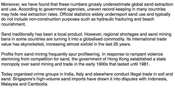 Sand mining IELTS PTE Reading 2